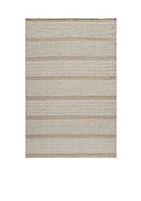 "Momeni Mesa Diamonds Beige Area Rug 36"" x"