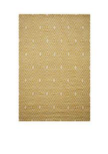 Momeni Veranda Diamonds Yellow Area Rug 3'9