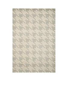 Delhi Jigsaw Gray Area Rug 3'6\