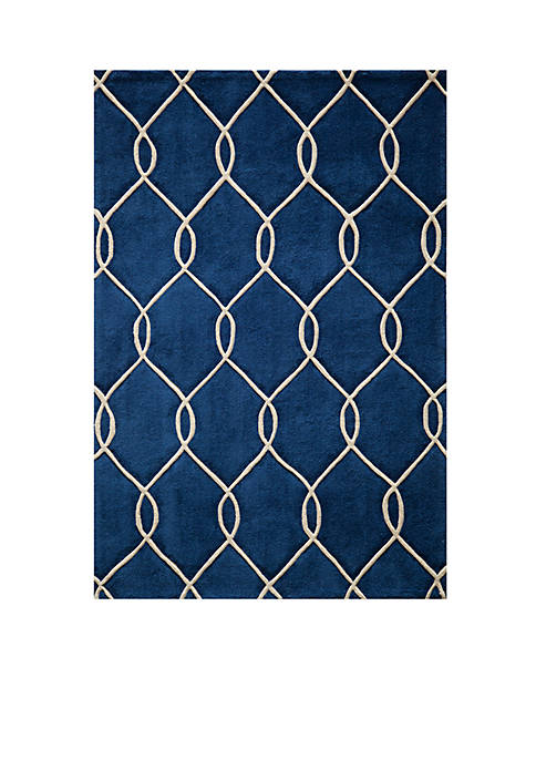 Bliss Chain Navy Area Rug 2 x 3