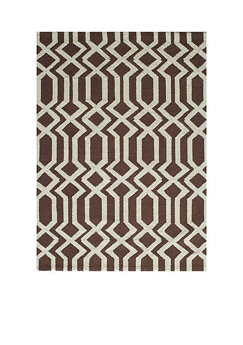 Momeni Geo Lattice Brown Area Rug 5 x