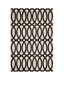 Delhi Spirals Black Area Rug