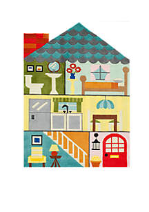 Lil Mo Playhouse Area Rug 2' x 3'