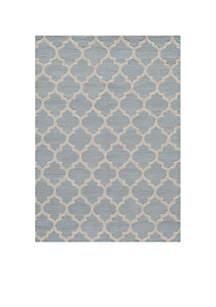 Geo Tiles Gray Area Rug 2' x 3'