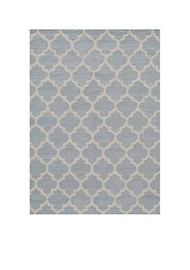 "Geo Tiles Gray Area Rug 23"" x 76"""