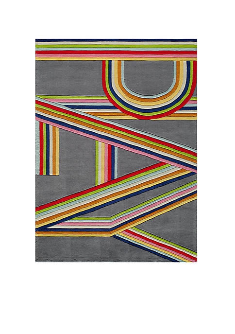 Lil Mo Hipster Bright Stripe Area Rug 3¿ x 2