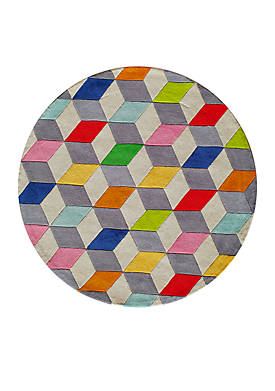 Lil Mo Hipster Blocks Area Rug 5 Round