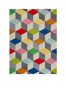 Lil Mo Hipster Blocks Area Rug 7 x 5
