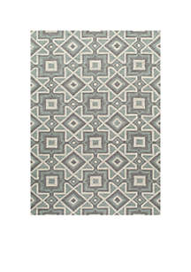 Geo Kaleidoscope Gray Area Rug 2'3\