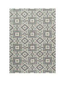 Geo Kaleidoscope Gray Area Rug 5' x 7'