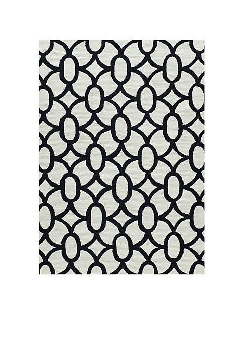 Momeni Geo Locks Black Area Rug 2 x