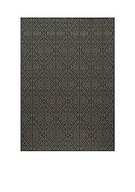 "Baja Maze Charcoal Area Rug 18"" x 37"""