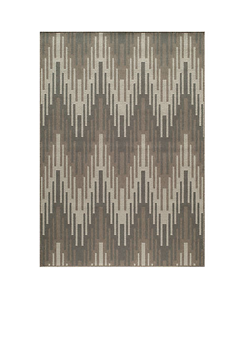 "Momeni Baja Waves Beige Area Rug 18"" x"