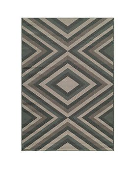 "Baja Diamond Sage Multi Area Rug 18"" x 37"""