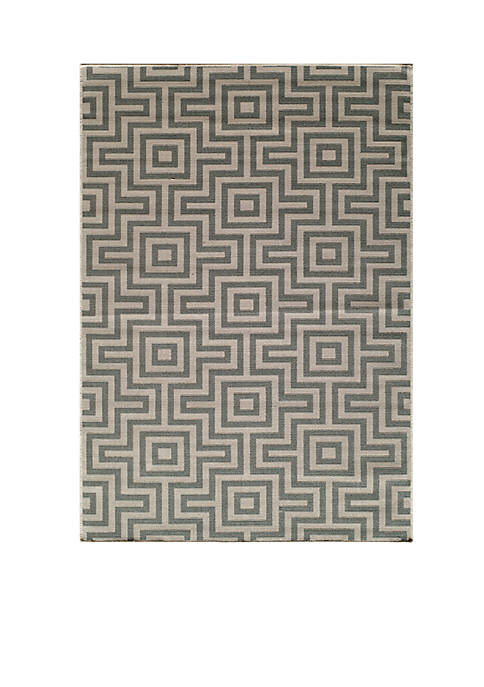 "Momeni Baja Links Gray Area Rug 18"" x"