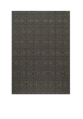 "Baja Maze Charcoal Area Rug 23"" x 46"""