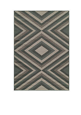 "Baja Diamond Sage Multi Area Rug 23"" x 46"""