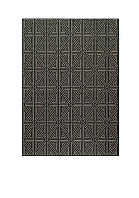 "Baja Maze Charcoal Area Rug 23"" x 76"""