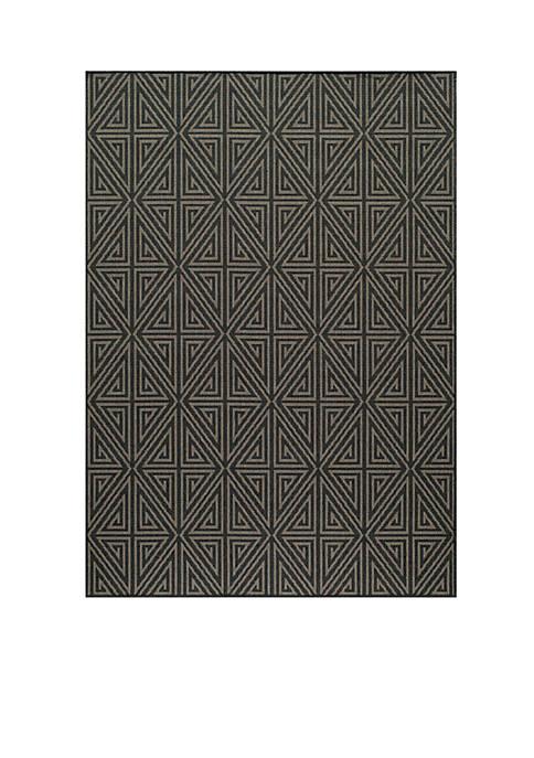 "Momeni Baja Maze Charcoal Area Rug 23"" x"