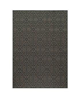 "Baja Maze Charcoal Area Rug 311"" x 57"""