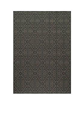 "Baja Maze Charcoal 53"" x 76"""