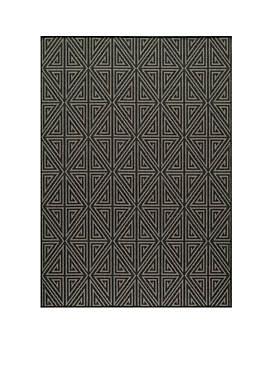 "Baja Maze Charcoal 710"" x 1010"""