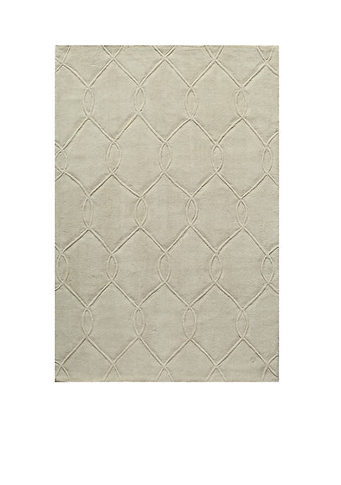Momeni Bliss Chain Ivory Area Rug 2 x