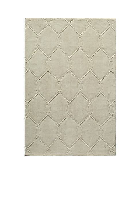 "Momeni Bliss Chain Ivory Area Rug 23"" x"