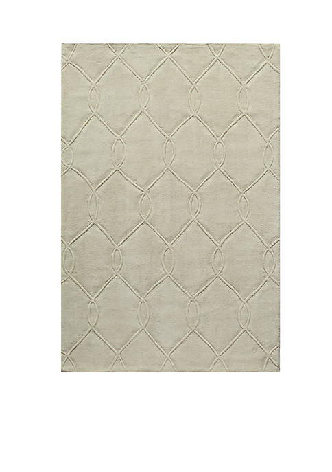 Momeni Bliss Chain Ivory Area Rug 5 x