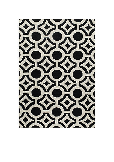 "Momeni Geo Global Black Area Rug 36"" x"