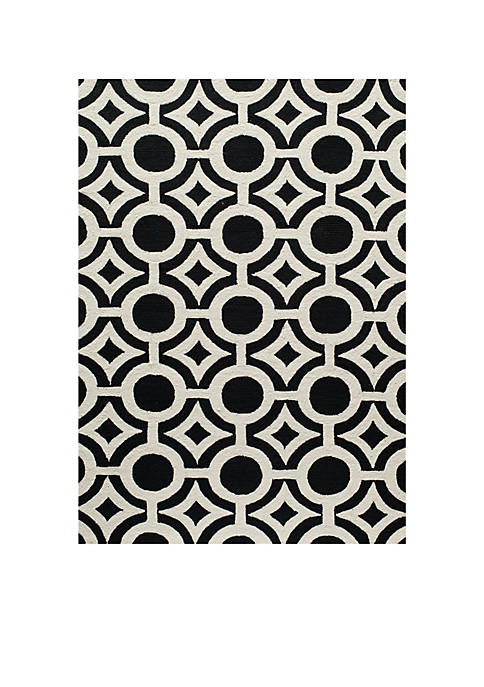 Momeni Geo Global Black Area Rug 5 x