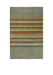 Gramercy Edge Gray Area Rug 3'6\
