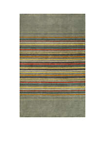 Gramercy Edge Gray Area Rug 5' x 8'
