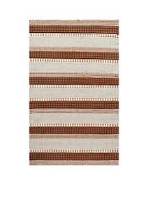 Mesa Stripes Rust Area Rug 2'3\