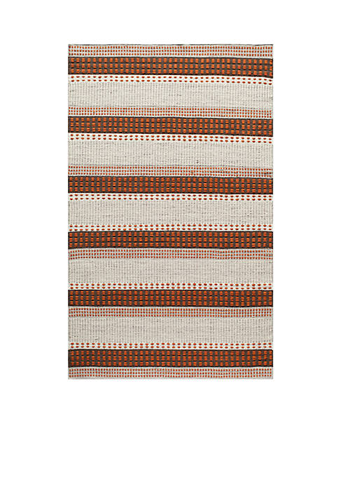 "Momeni Mesa Stripes Rust Area Rug 36"" x"