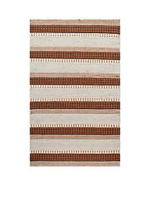 Mesa Stripes Rust Area Rug 3'6\