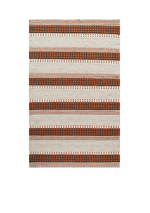 Mesa Stripes Rust Area Rug 5 x 8