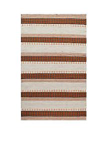 Mesa Stripes Rust Area Rug 5' x 8'