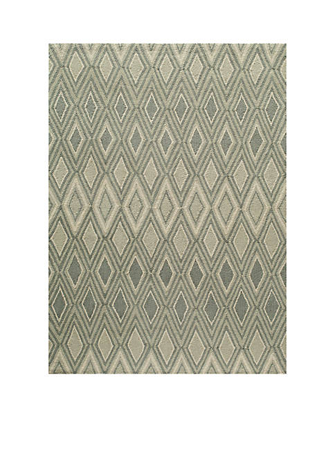 "Geo Argyle Gray Area Rug 36"" x 56"""
