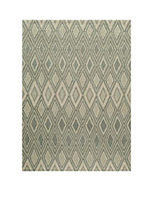 Geo Argyle Gray Area Rug 3'6\