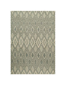 Geo Argyle Gray Area Rug