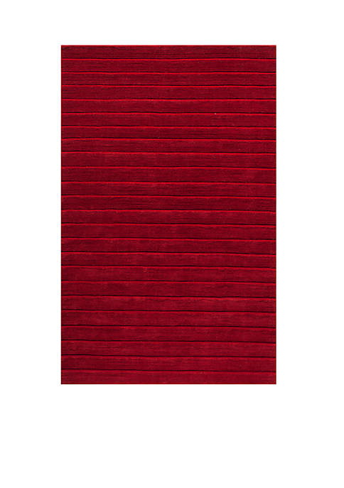 """Metro Stacked Red Area Rug 33"""" x 53"""""""