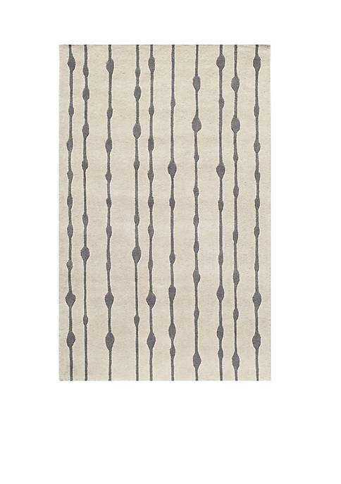 Momeni Delhi Water Drops Gray Area Rug