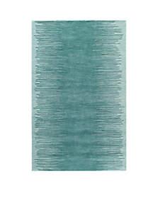 Delhi Fringe Aqua Area Rug 5' x 8'