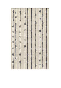 Delhi Water Drops Gray Area Rug