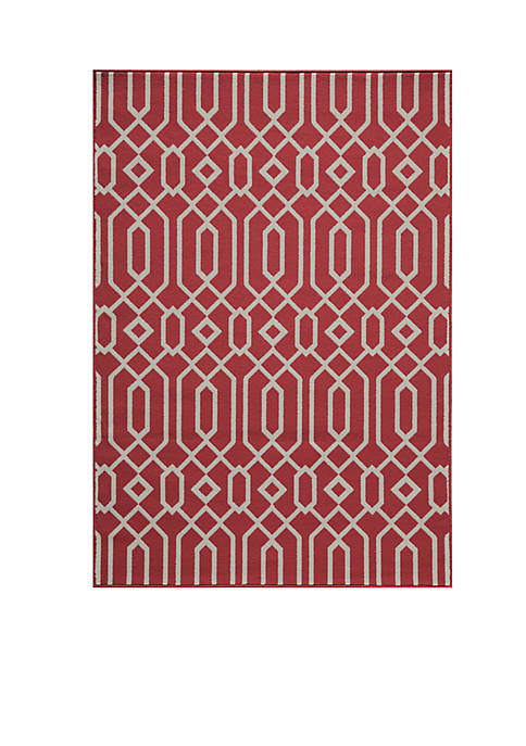 "Momeni Baja Crown Red Area Rug 23"" x"