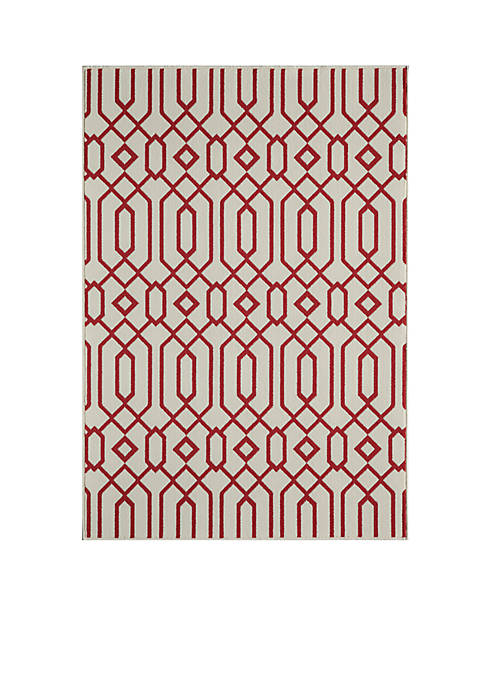 "Momeni Baja Crown Beige Area Rug 23"" x"