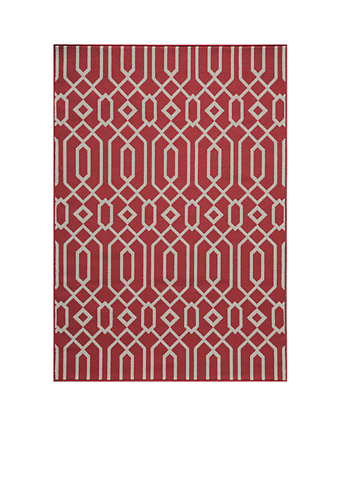 "Momeni Baja Crown Red Area Rug 311"" x"