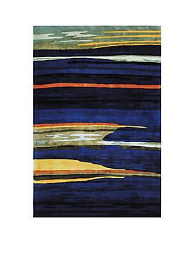 "New Wave Landscape Gabbeh Navy Area Rug 36"" x 56"""