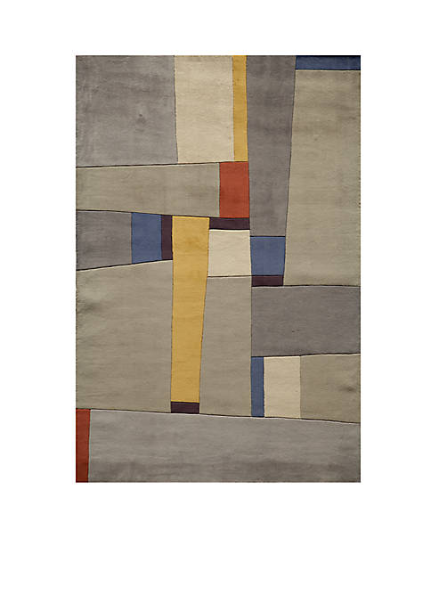 Momeni New Wave Cities Grey Area Rug 2
